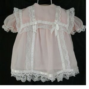 Gunne Sax Jessica McClintock Baby Girl Pink Dress